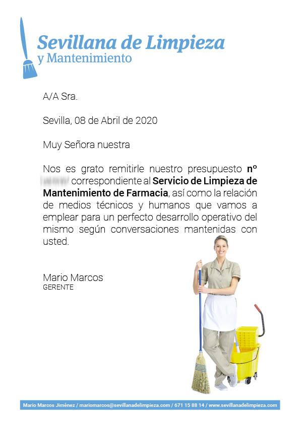 EJEMPLO REAL DE PRESUPUESTO DE LIMPIEZA DE FARMACIA EN SEVILLA ACEPTADO 02