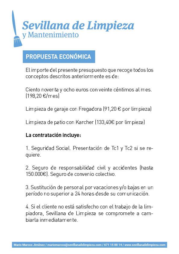 Ejemplo Presupuesto real de Limpieza de Comunidades de Vecinos 05